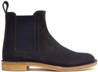 Bottega Veneta Round-toe suede chelsea boots