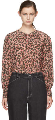 Isabel Marant Pink and Grey Silk Sunny Blouse