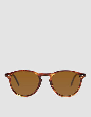 Garrett Leight Hampton Horn-Rim Sunglasses in Chestnut / Barley