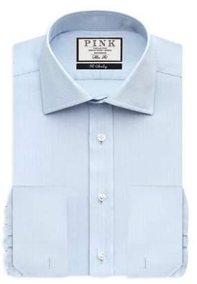 Thomas Pink Timothy Herringbone Dress Shirt - Bloomingdale's Regular Fit