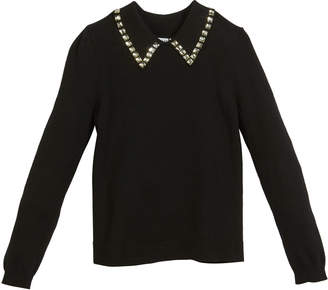 Milly Minis Rhinestone-Trim Pullover Sweater, Size 8-14 and Matching Items
