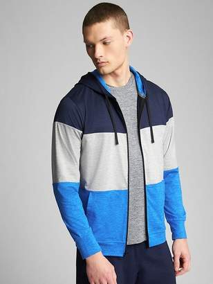 Gap GapFit Brushed Tech Jersey Full-Zip Hoodie