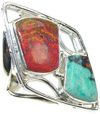 Sonora SilverFury Red Jasper Women 925 Sterling Silver Ring Size: 7 1/2 - Free Gift Box