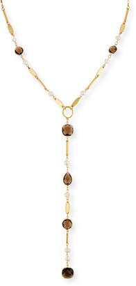Sequin Faceted Crystal Y-Drop Necklace