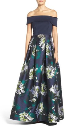 Women's Eliza J Off The Shoulder Ballgown $288 thestylecure.com
