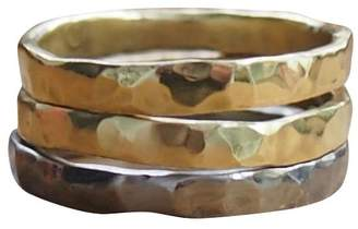 Elena Jewelry Concepts - Stackable Rhodium Plated Silver I Bronze II
