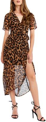 Bardot Leopard Wrap Dress