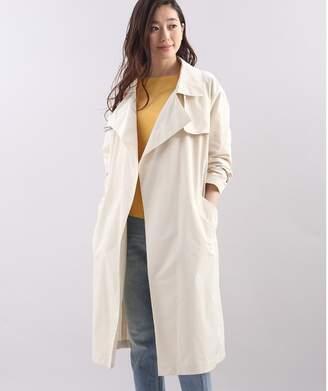 スーペリアクローゼット 《大きいサイズ》ベルト付きロングスプリングコート《PREMIUM BJ》
