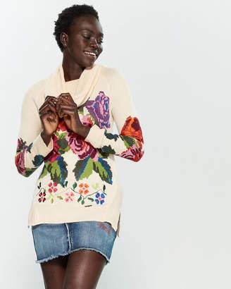 Desigual Rosa Floral Turtleneck Sweater