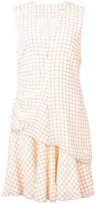 Derek Lam 10 Crosby Sleeveless V-Neck Ruched Dress