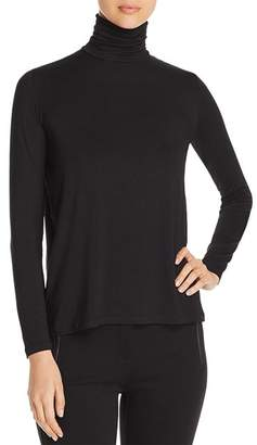 Majestic Filatures Back-Pleat Turtleneck