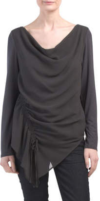 Cowl Neck Rouch Top