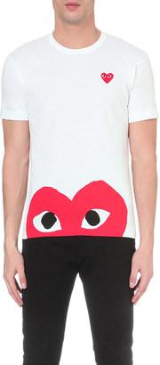 Comme Des Garcons Play Half-heart logo t-shirt $95 thestylecure.com