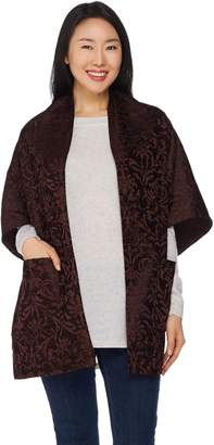 Weave Of The Irish Weave of the Irish Open Front Jacquard Poncho with Pockets