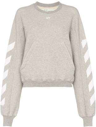 Off-White kangaroo pocket boxy fit jumper