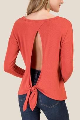 francesca's Lola Tie Back Top - Cinnamon