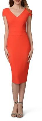 Women's Donna Morgan Stretch Crepe Sheath Dress $98 thestylecure.com