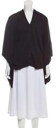 Maison Margiela Wool-Blend Button-Up Poncho Black Wool-Blend Button-Up Poncho