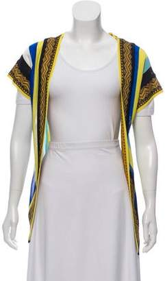 Fuzzi Embroidered Open Front Cardigan w/ Tags