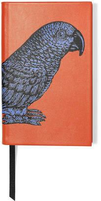 Smythson Printed Textured-leather Notebook - Orange