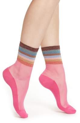 Paul Smith Hatty Metallic Stripe Crew Socks