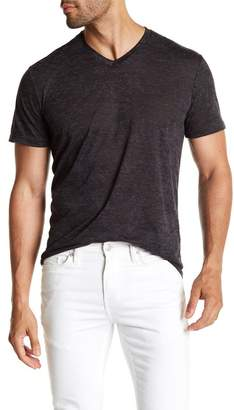 Public Opinion Short Sleeve Burnout V-Neck Tee