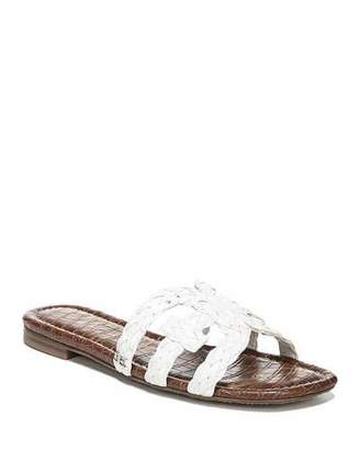 13b3011df Sam Edelman Beckie Braided Leather Cutout Slide Sandals