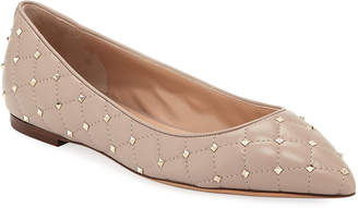 Valentino Rockstud Spike Leather Ballet Flats