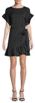 Supply & Demand Striped Ruffled Dress