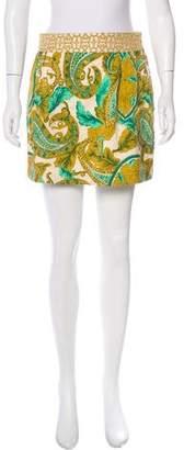 Milly Silk Flared Mini Skirt