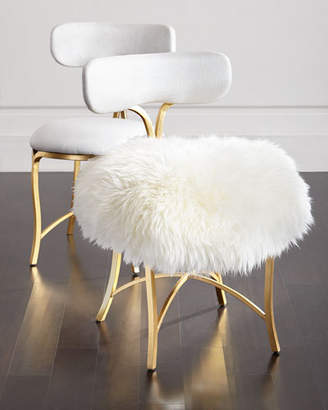 Hooker Furniture Cynthia Rowley for Swanson Sheepskin Side Chair