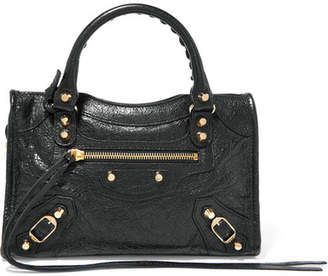 Balenciaga Classic City Mini Textured-leather Tote - Black