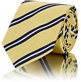 Barneys New York Men's Striped Silk Faille Necktie - Yellow