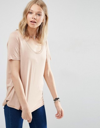ASOS Knitted U Neck T-shirt $16.50 thestylecure.com