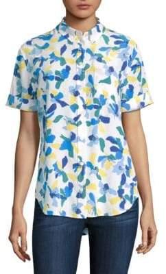 fb8b8f0e916e68 ... Equipment Betty Color Block Floral Blouse