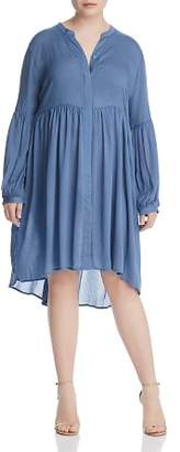 Glamorous CURVY High/Low Gathered Peasant Dress