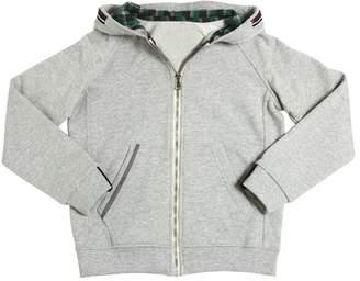 Myths Hooded Cotton Zip-Up Sweatshirt