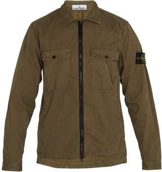 Stone Island Zip-through cotton overshirt