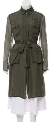 Diane von Furstenberg Blaine Silk Lightweight Coat w/ Tags