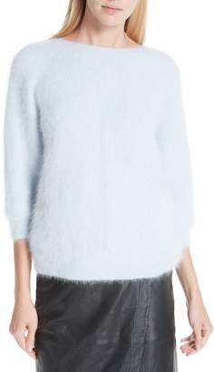 BA&SH Barmy Twist Back Angora Blend Sweater