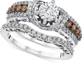 LeVian Le Vian Bridal Diamond Bridal Set (1-1/2 ct. t.w.) in 14k White Gold