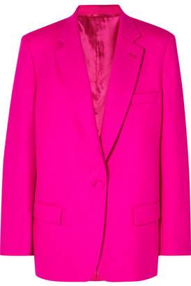 ATTICO Oversized Wool-blend Gabardine Blazer - Pink