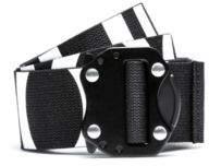HUGO Boss Reverse-logo belt in Italian cotton gunmetal closure One Size Black