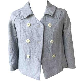 Barneys New York Turquoise Cotton Leather Jacket for Women