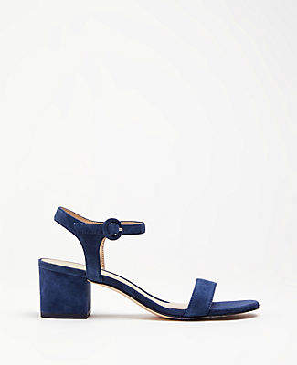 663f18830f Ann Taylor Kennedy Suede Block Heel Sandals