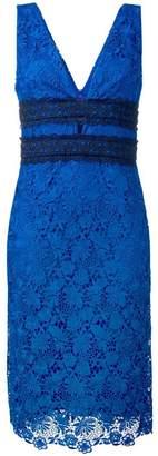 Diane von Furstenberg floral lace midi dress