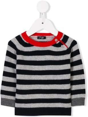 Il Gufo striped contrast-collar jumper