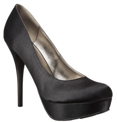 Mossimo Women's Viviana Satin Platform Pumps - Black