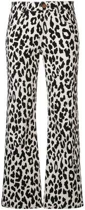 See by Chloe cropped leopard print trousers