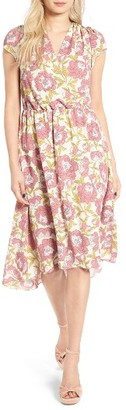 Women's Leith Foral Print Midi Dress $85 thestylecure.com